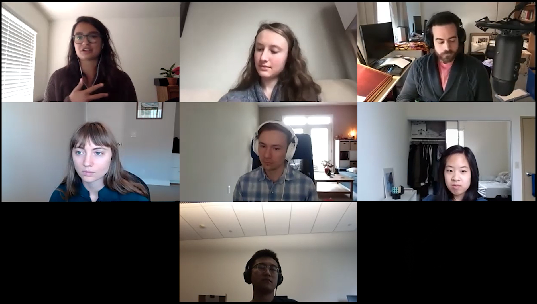 The panel of graduate students